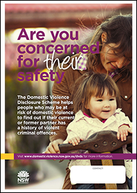 Poster - Are you concerned for their safety? [Image of mother and child]