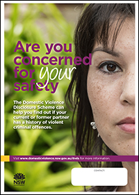 Poster - Are you concerned for your safety? [Image of woman]