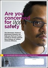Poster - Are you concerned for your safety? [Image of Asian man]