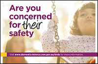 Postcard - Are you concerned for their safety? [Image of child]