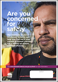 Poster - Are you concerned for your safety? [Image of Aboriginal man]