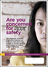Poster - Are you concerned for your safety? [Image of Asian woman]